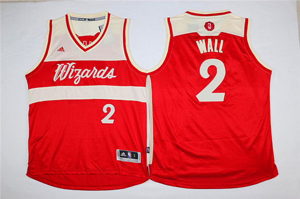 Wizards 2 John Wall Red 2015-16 Christmas Day Swingman Jersey