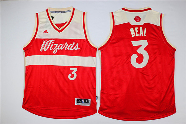Wizards 3 Bradley Beal Red 2015-16 Christmas Day Swingman Jersey