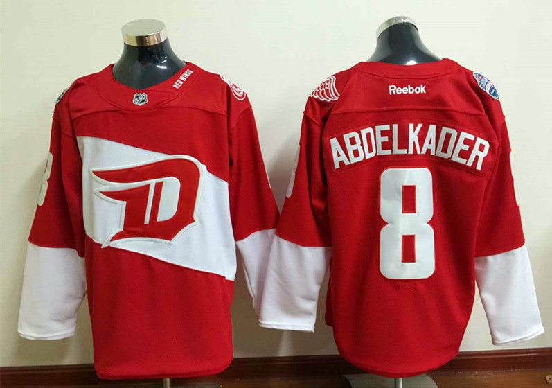 Red Wings 8 Justin Abdelkader Red 2016 Stadium Series Reebok Jersey