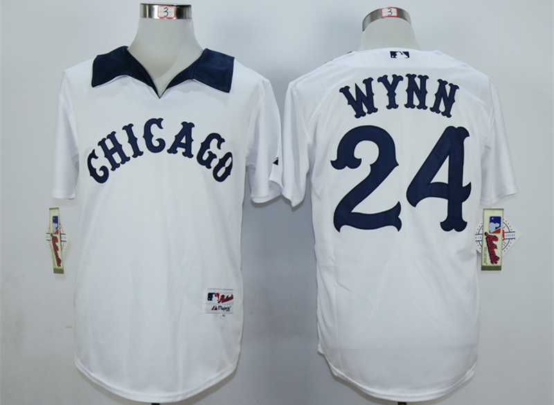 White Sox 24 Early Wynn White 1976 Turn Back The Clock Jersey