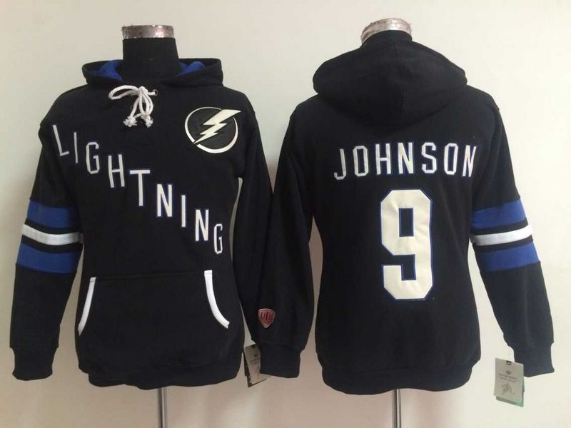 Lightning 9 Tyler Johnson Black Women All Stitched Hooded Sweatshirt