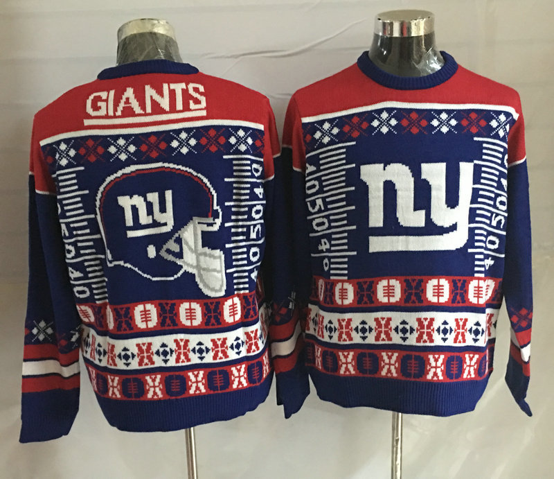 New York Giants Crew Neck Men's Ugly Sweater2