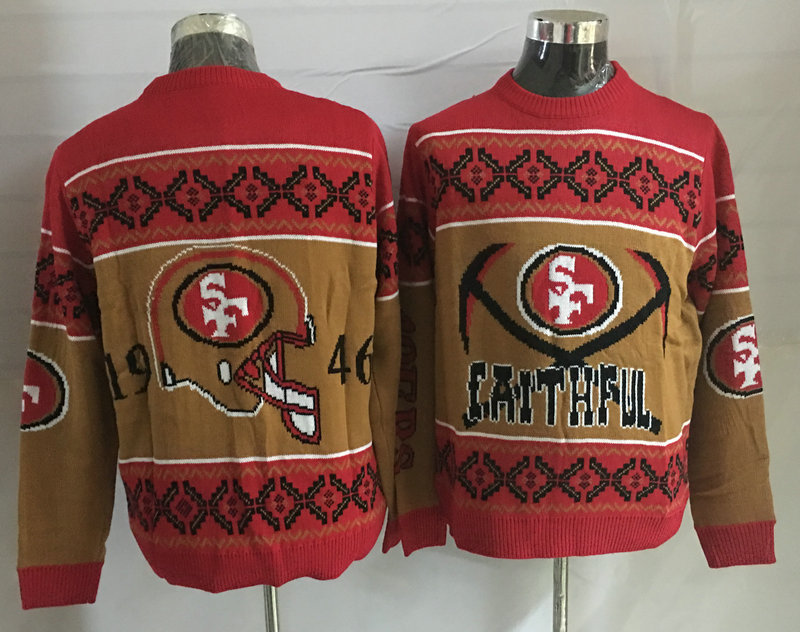 San Francisco 49ers Crew Neck Men's Ugly Sweater2