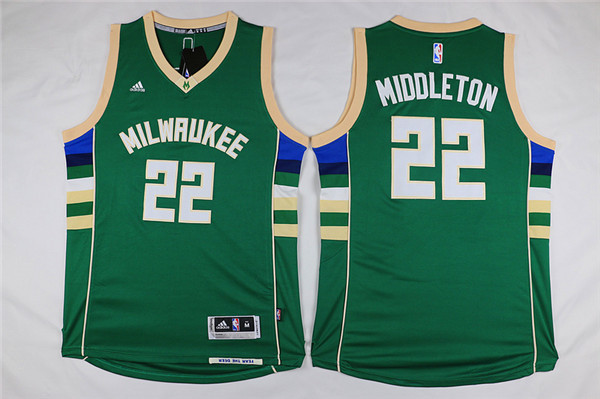 Bucks 22 Khris Middleton Green Swingman Jersey