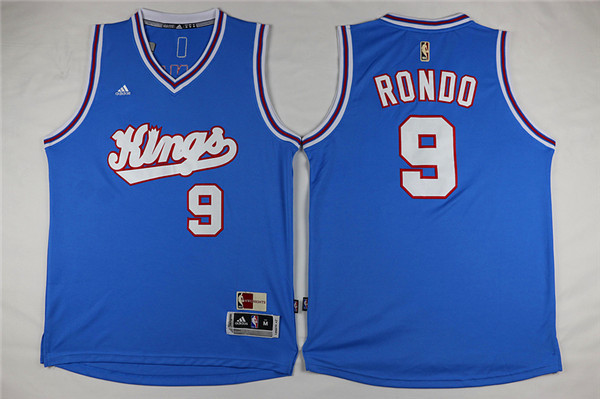 Kings 9 Rajon Rondo Light Blue Swingman Jersey