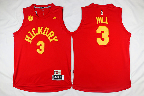 Pacers Hickory 3 George Hill Red Swingman Jersey