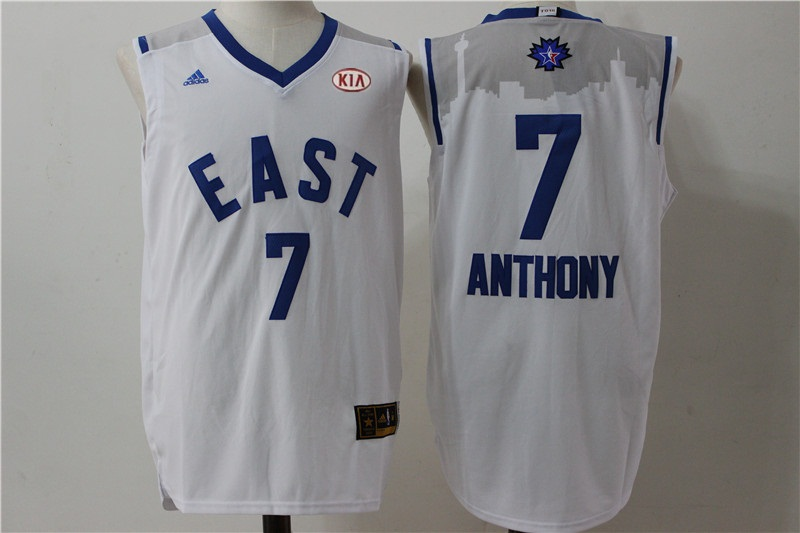 Knicks 7 Carmelo Anthony White 2016 All Star East Jersey