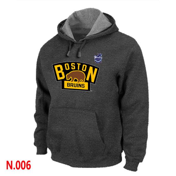 Bruins Dark Grey Team Logo Pullover Hoodie