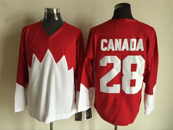 Team Canada 28 Red 1972 Commemorative CCM Jersey