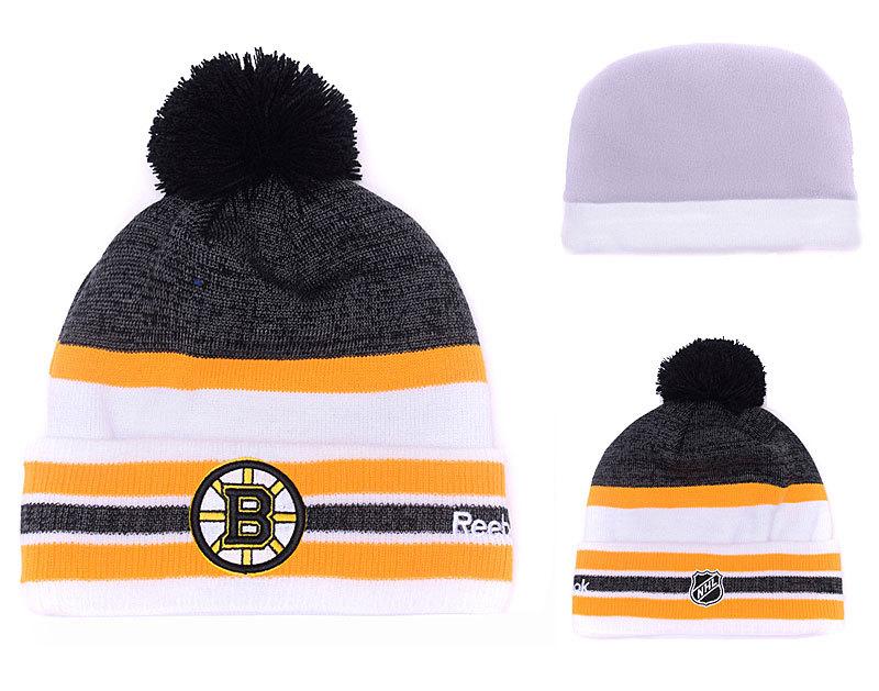 Bruins Team Logo D.Grey & Yellow Knit Hat YD