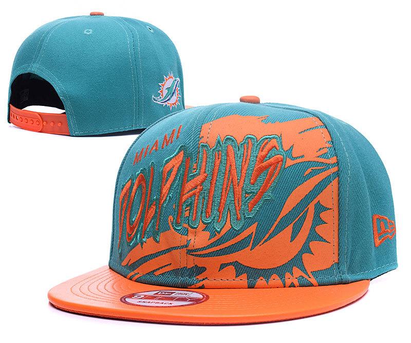 Dolphins Team Logo Teal Adjustable Hat GS2
