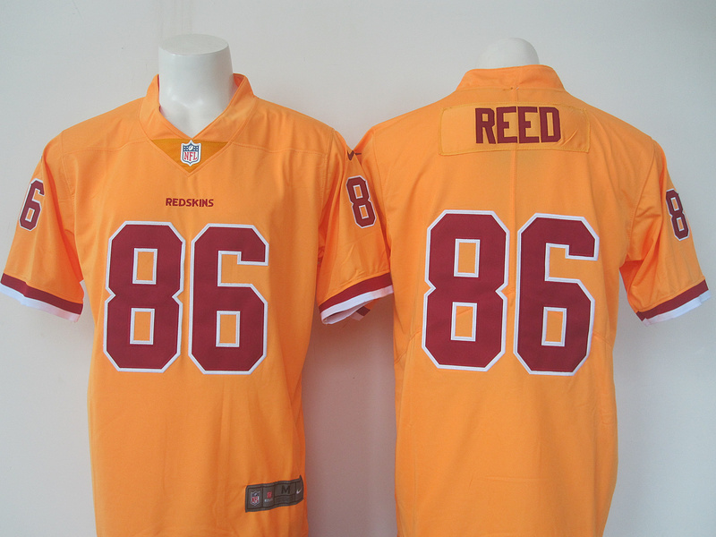 e76e14f195c Nike Redskins 86 Jordan Reed Yellow Youth Color Rush Limited Jersey