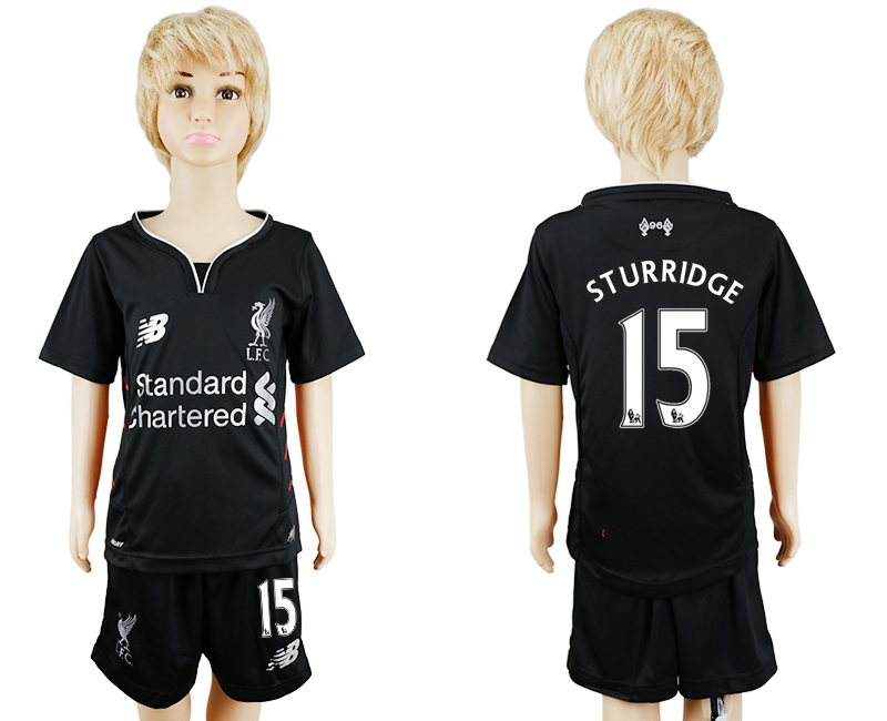 2016-17 Liverpool 15 STURRIDGE Away Youth Soccer Jersey