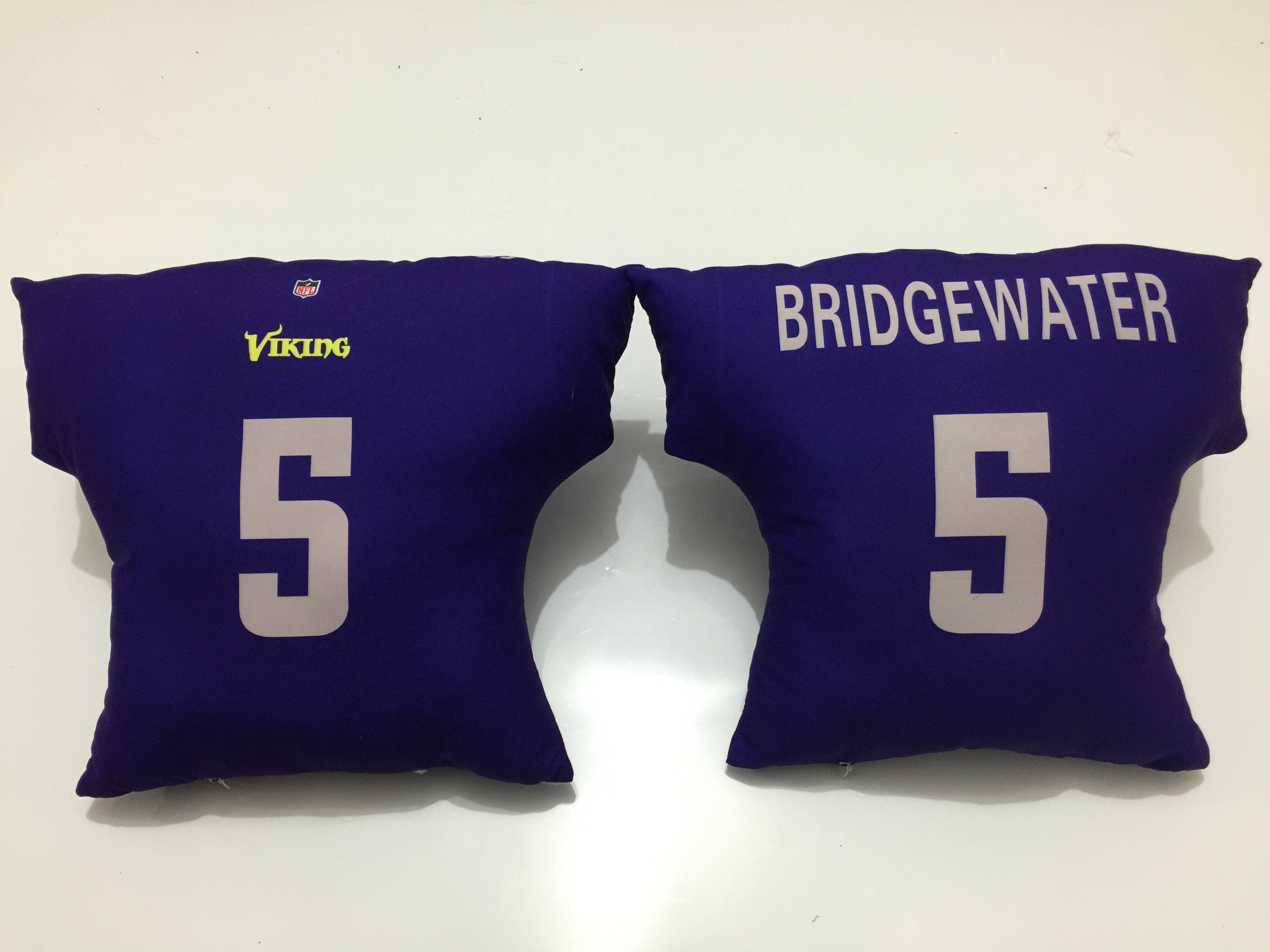Minnesota Vikings 5 Teddy Bridgewater Purple NFL Pillow