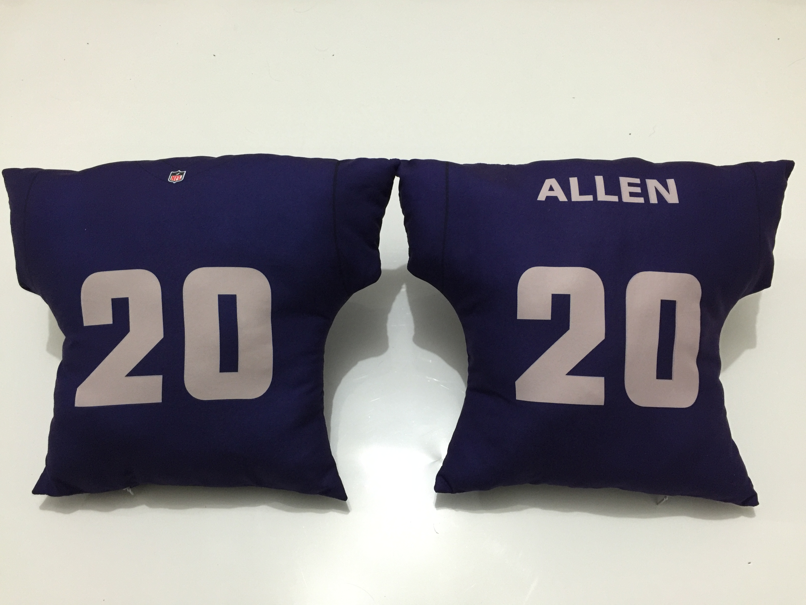 Oakland Raiders 20 Nate Allen Navy NFL Pillow