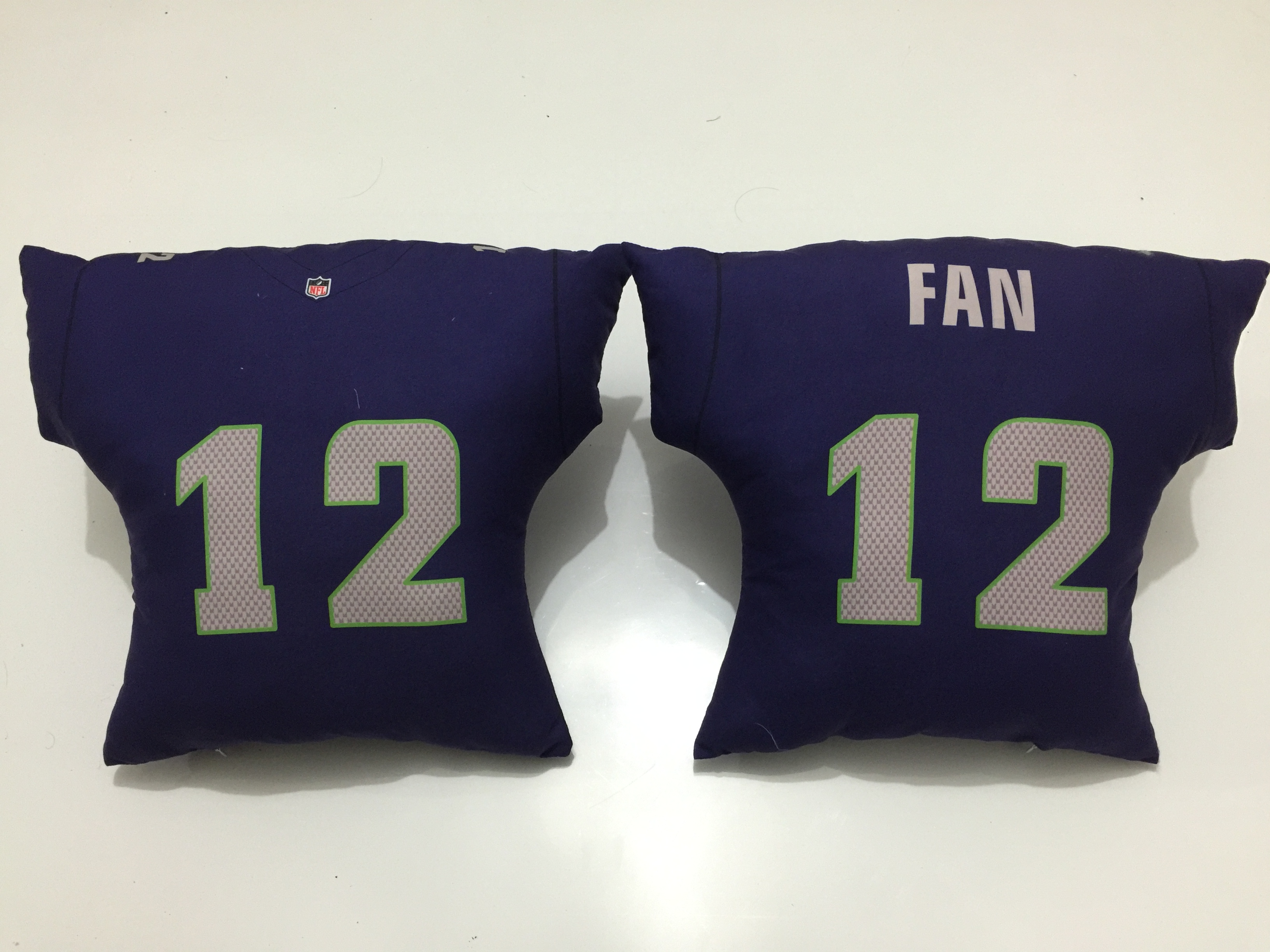 Seattle Seahawks 12 Fan Navy NFL Pillow