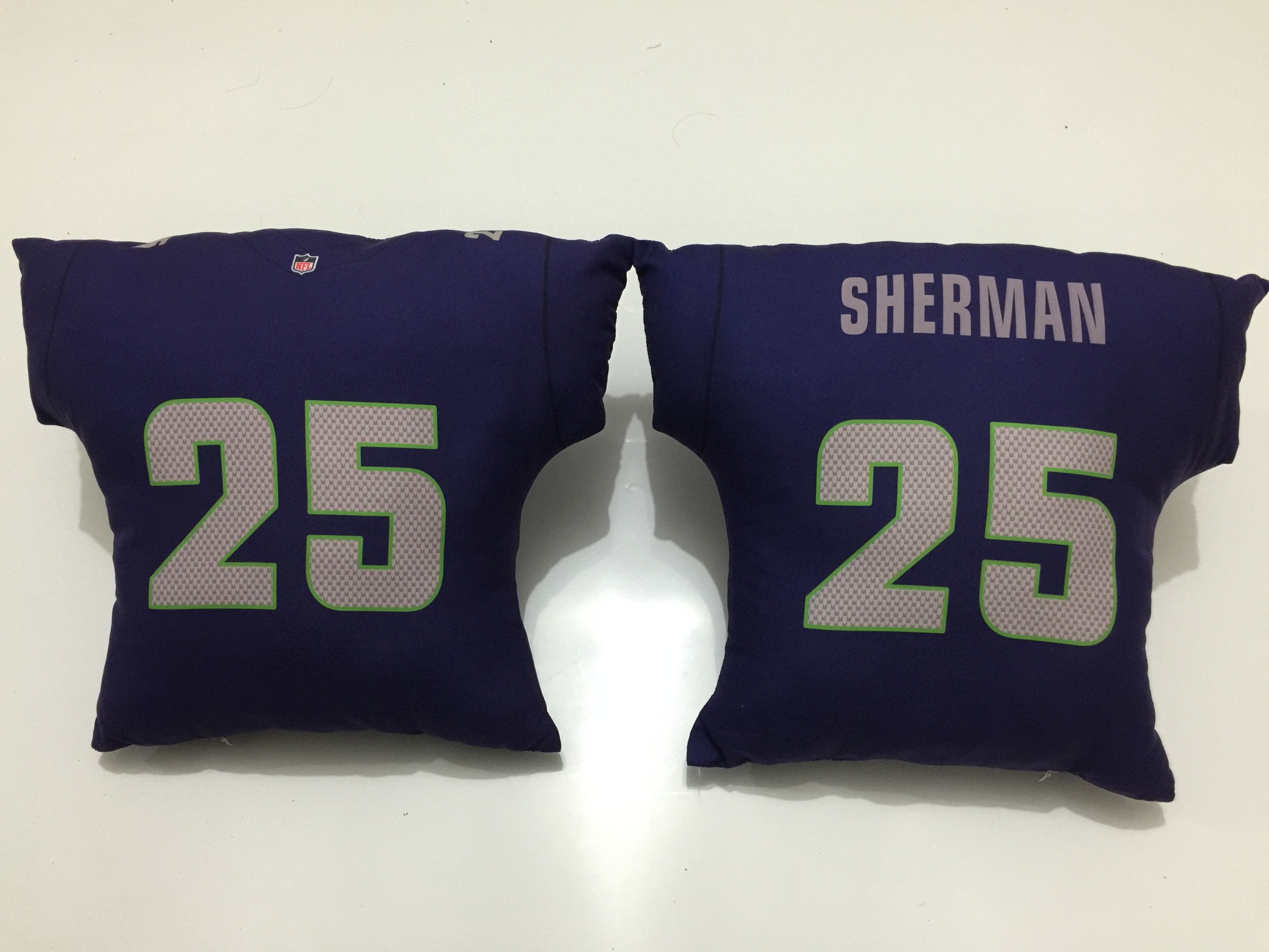 Seattle Seahawks 25 Richard Sherman Navy NFL Pillow