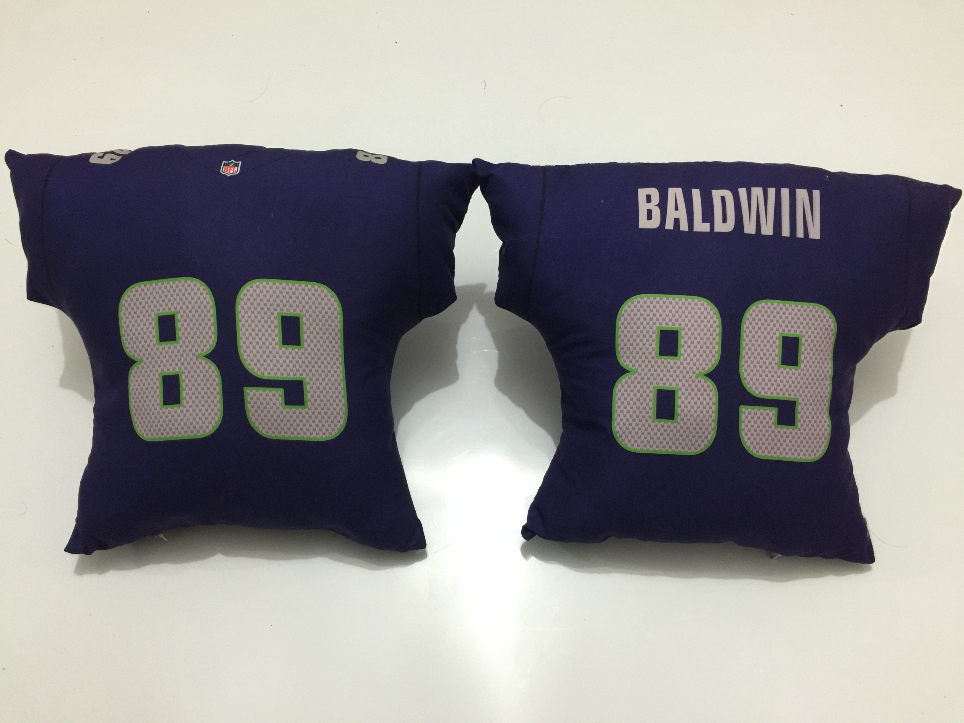 Seattle Seahawks 89 Doug Baldwin Navy NFL Pillow