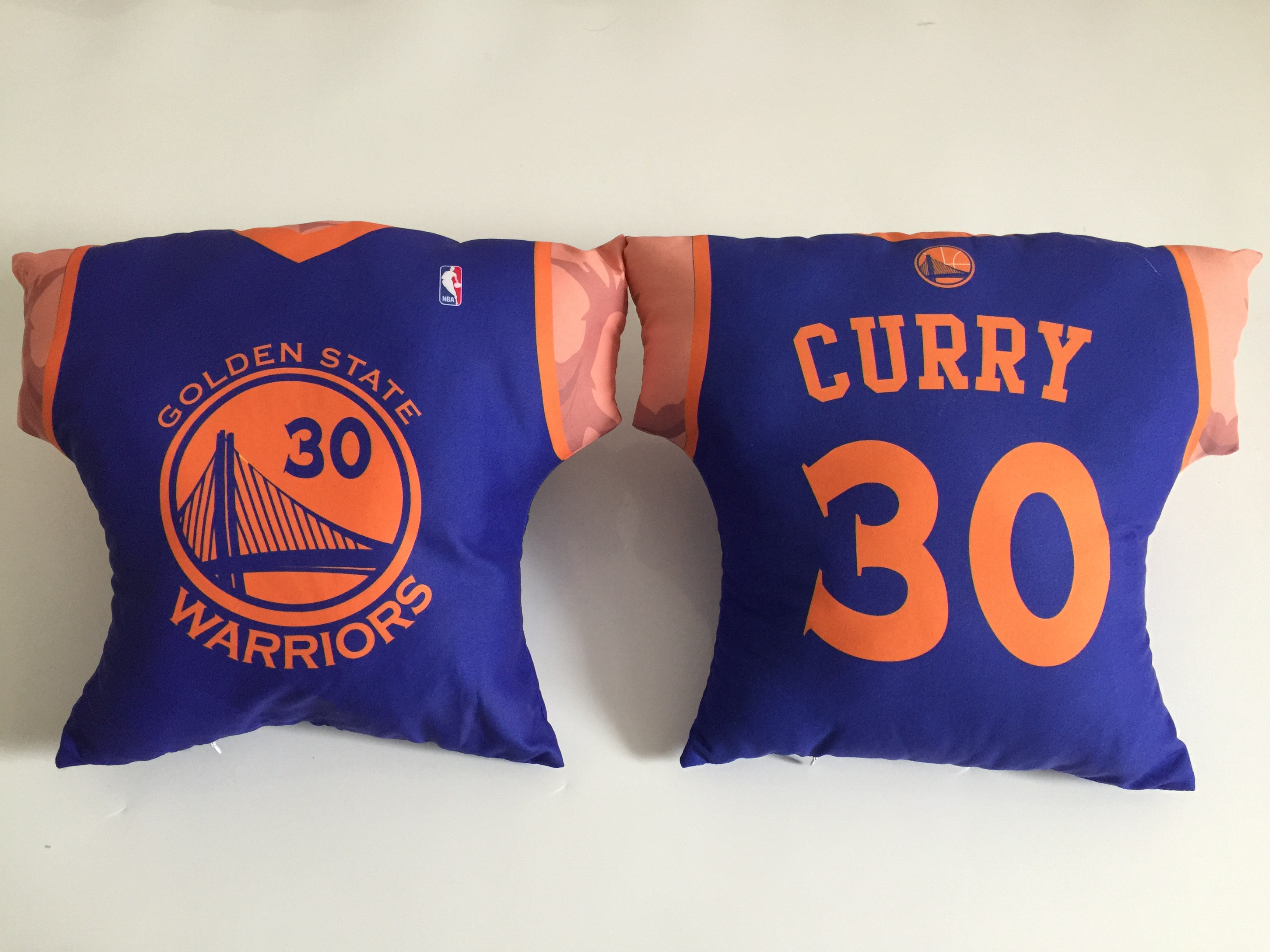 Golden State Warriors 30 Stephen Curry Royal NBA Pillow