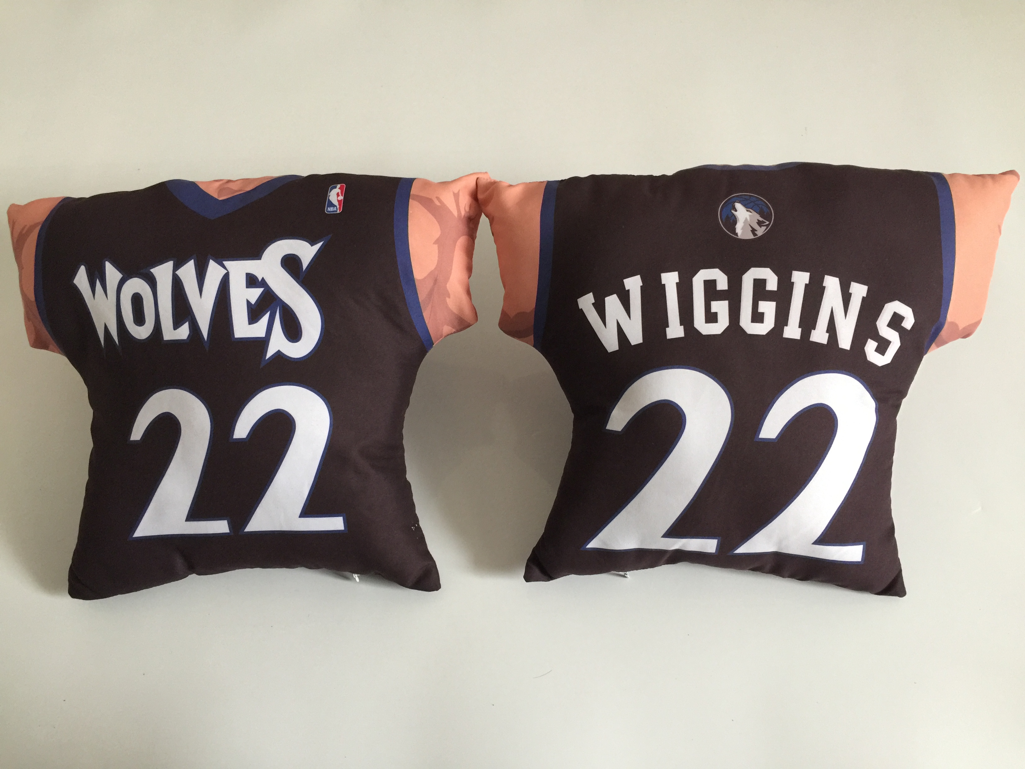 Minnesota Timberwolves 22 Andrew Wiggins Black NBA Pillow