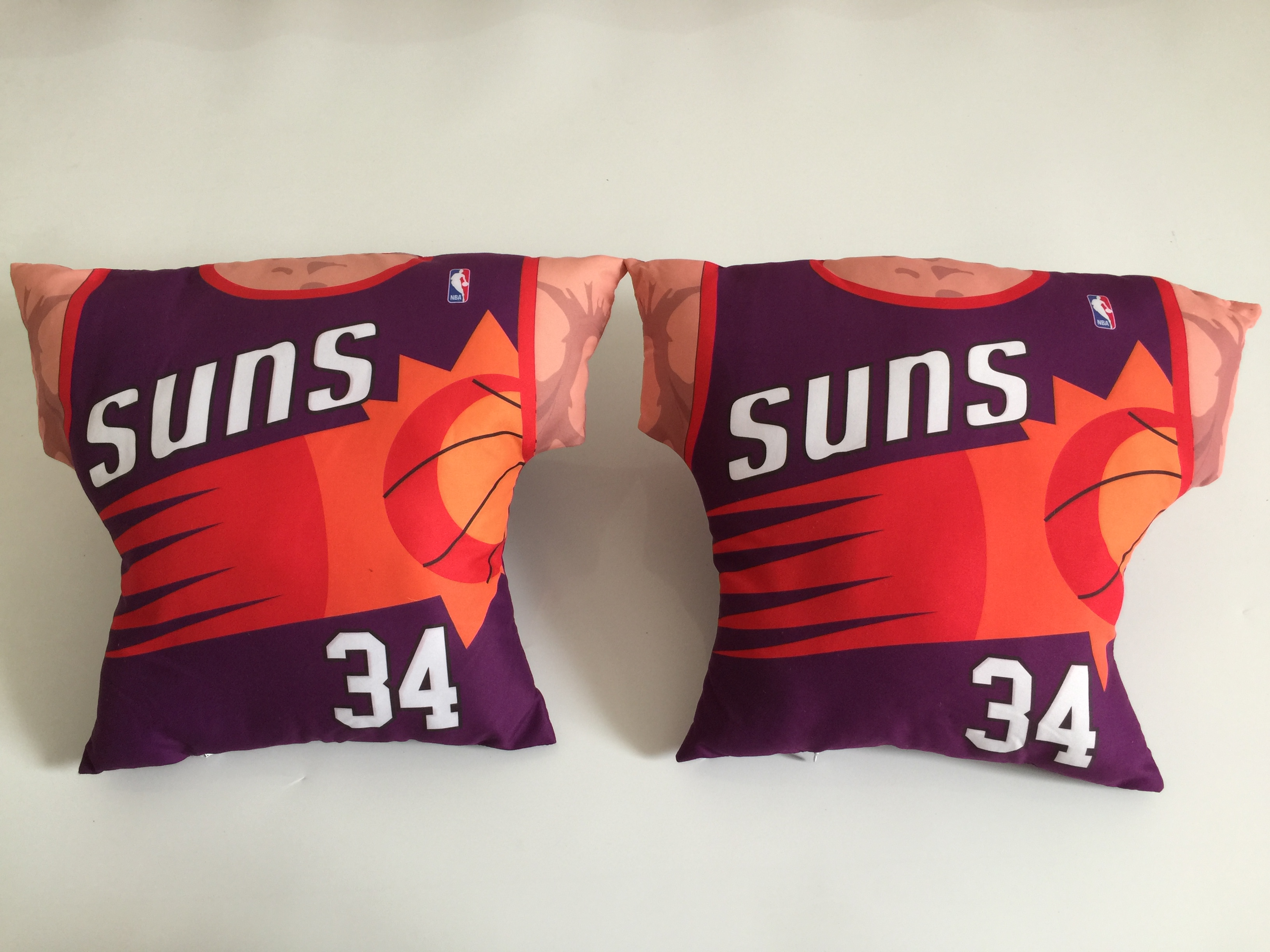Phoenix Suns 34 Charles Barkley Purple NBA Pillow
