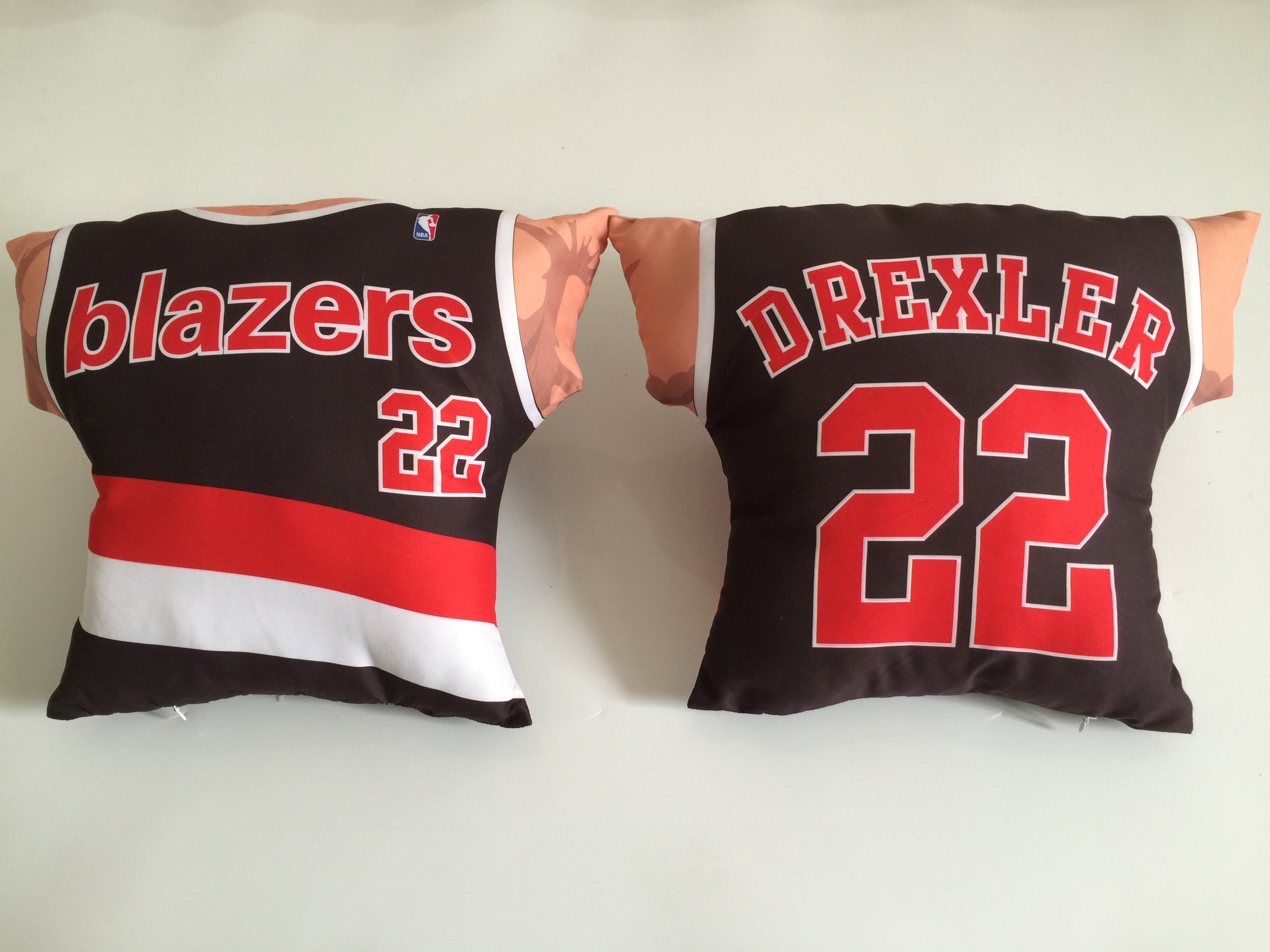 Portland Trail Blazers 22 Clyde Drexler Black NBA Pillow