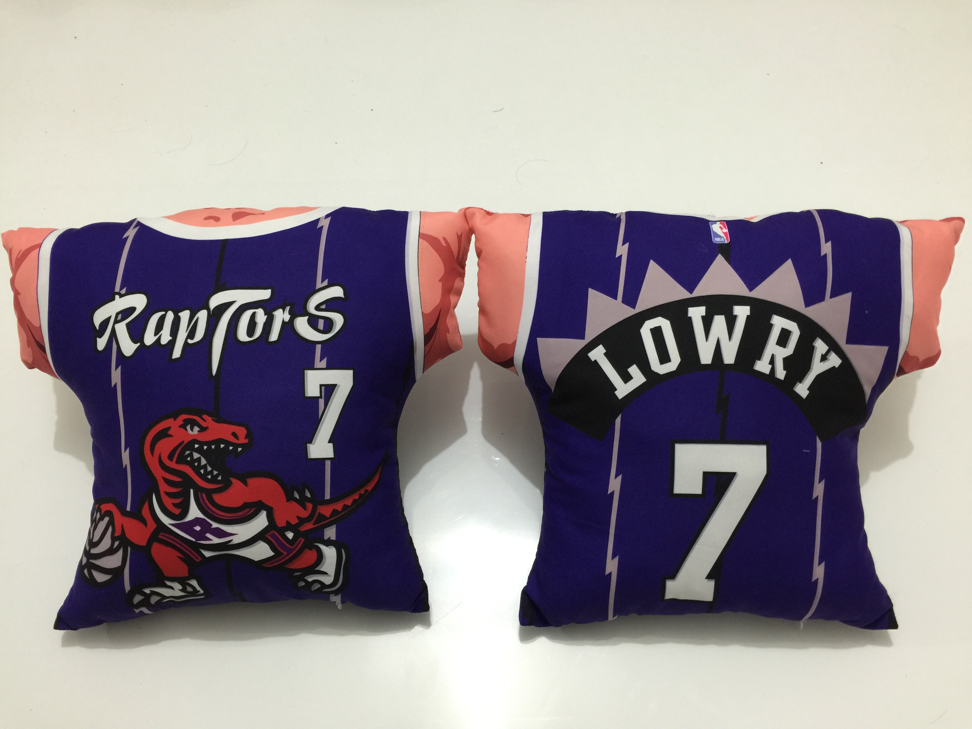 Toronto Raptors 7 Kyle Lowry Purple NBA Pillow