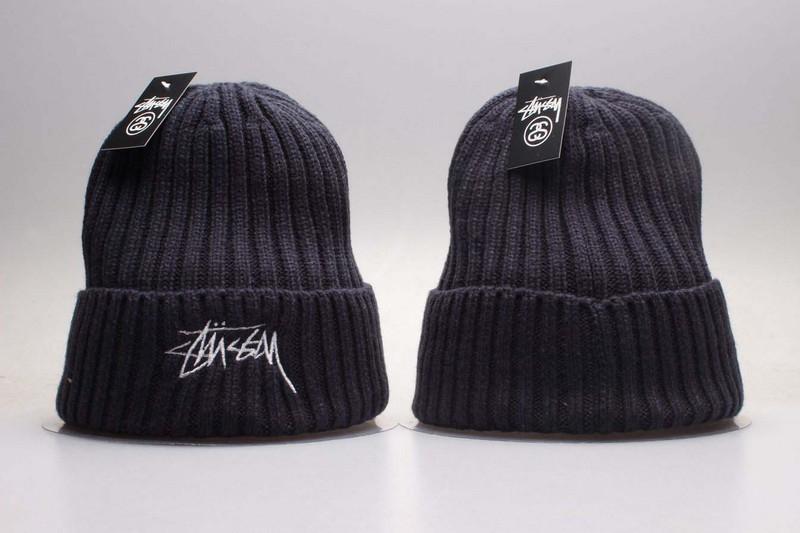 Stussy Team Logo Dark Grey Knit Hat YP