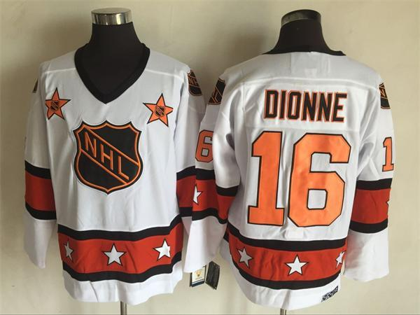 1980 All Star 16 Marcel Dionne White CCM NHL Jersey