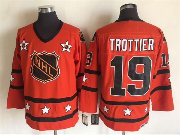 1980 All Star 19 Bryan Trottier Orange CCM NHL Jersey