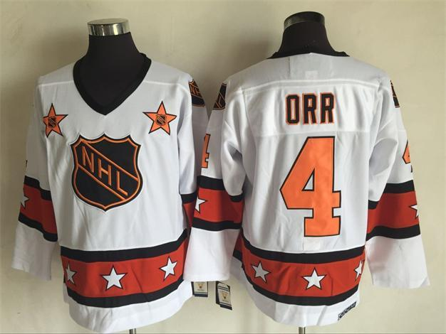1980 All Star 4 Bobby Orr White CCM NHL Jersey