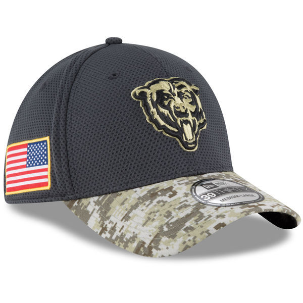 Chicago Bears Graphite Salute to Service Sideline Hat
