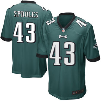 Nike Eagles 43 Darren Sproles Green Youth Game Jersey