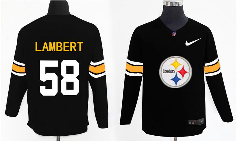 Nike Steelers 58 Jack Lambert Black Knit Sweater
