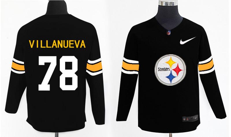 Nike Steelers 78 Alejandro Villanueva Black Knit Sweater