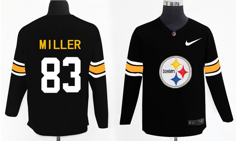 Nike Steelers 83 Heath Miller Black Knit Sweater
