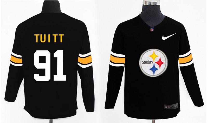 Nike Steelers 91 Stephon Tuitt Black Knit Sweater