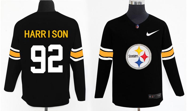 Nike Steelers 92 James Harrison Black Knit Sweater