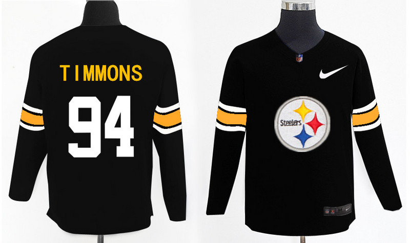 Nike Steelers 94 Lawrence Timmons Black Knit Sweater
