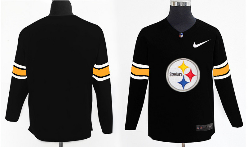 Nike Steelers Team Logo Black Knit Sweater