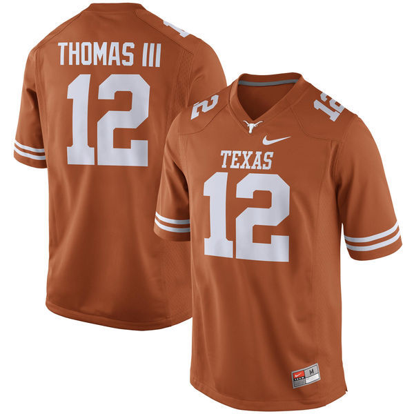 Texas Longhorns 12 Earl Thomas III Orange Nike College Jersey