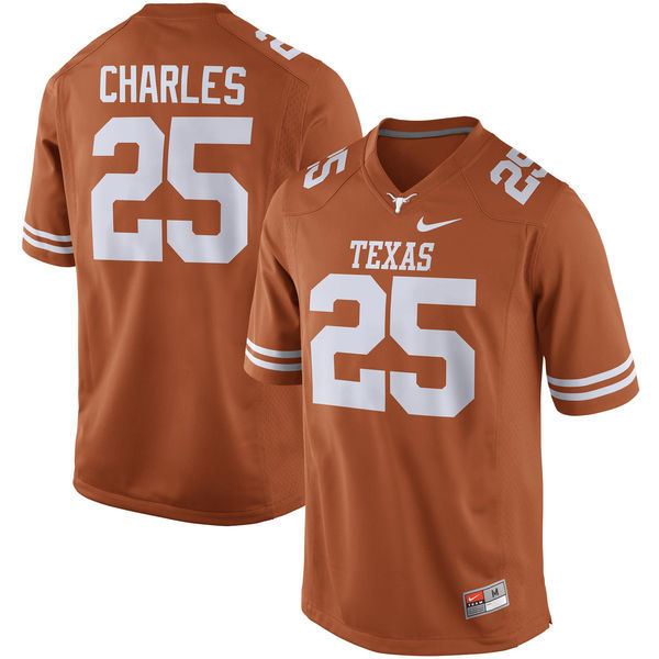 Texas Longhorns 25 Jamaal Charles Orange Nike College Jersey