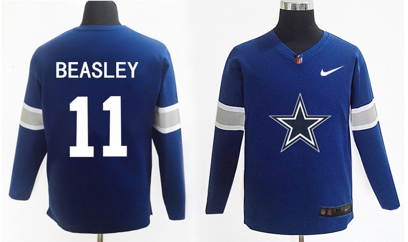 Nike Cowboys 11 Cole Beasley Navy Knit Sweater