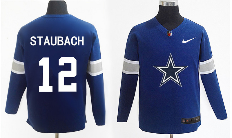 Nike Cowboys 12 Roger Staubach Knit Sweater