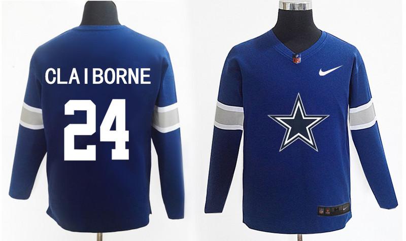 Nike Cowboys 24 Morris Claiborne Navy Knit Sweater