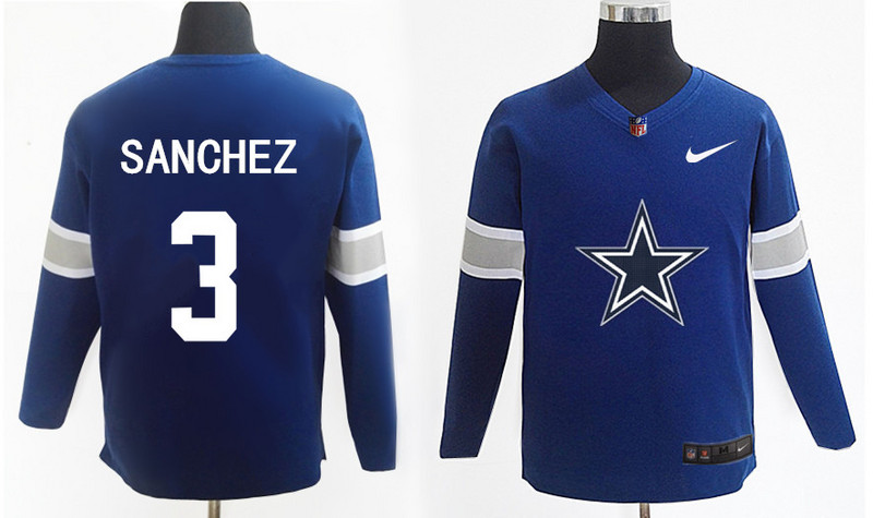 Nike Cowboys 3 Mark Sanchez Navy Knit Sweater