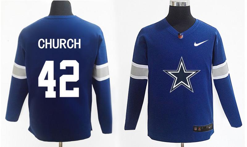 Nike Cowboys 42 Barry Church Navy Knit Sweater