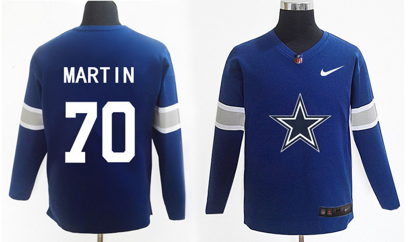Nike Cowboys 70 Zack Martin Navy Knit Sweater