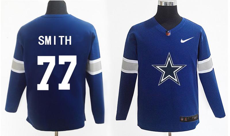 Nike Cowboys 77 Tyron Smith Navy Knit Sweater