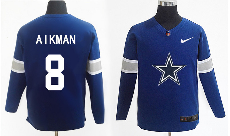 Nike Cowboys 8 Aikman Navy Knit Sweater
